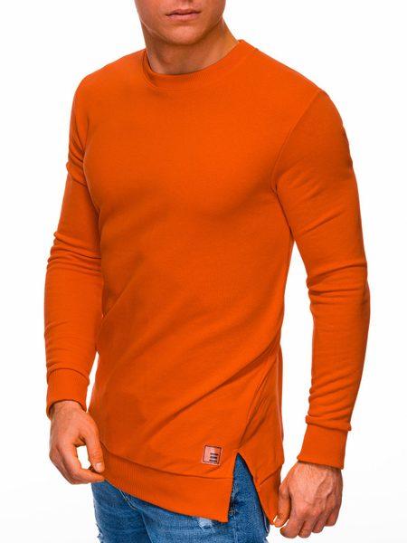 Trendová oranžová mikina B1296