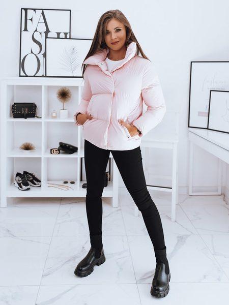 Dámska štýlová bunda Laro ružová
