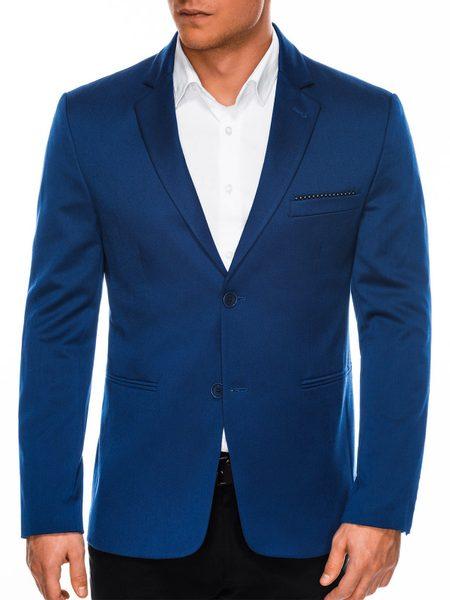 Moderné sako m96 v modrej farbe
