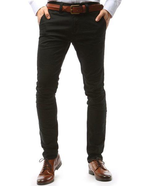 Klasické čierne chinos nohavice