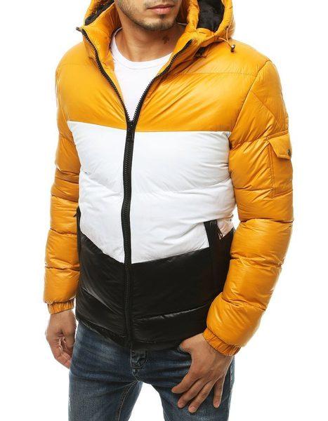 Moderná žltá zimná bunda