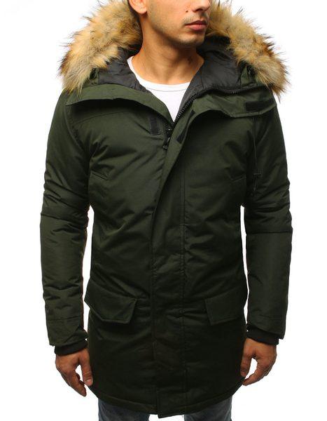 Štýlová zelená zimná bunda