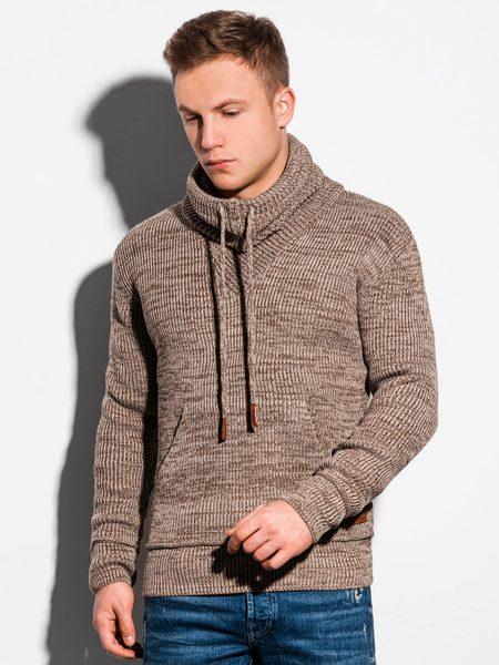 Pánsky trendový béžový sveter E152