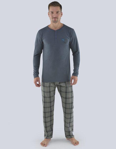 Grafitové pánske pyžamo Hugo