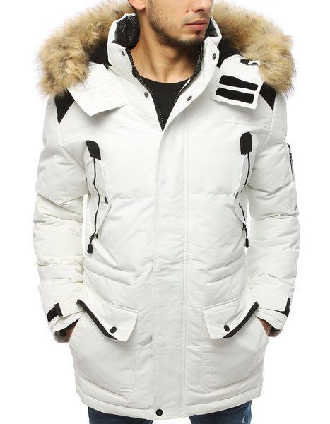 Zimná bunda v bielej farbe