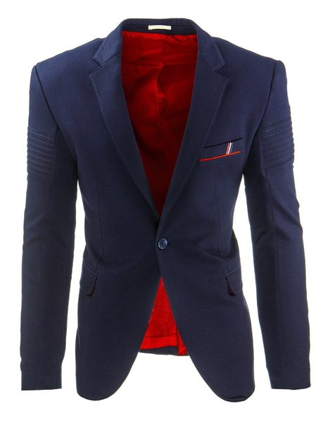 Granátovo-modré pánske sako