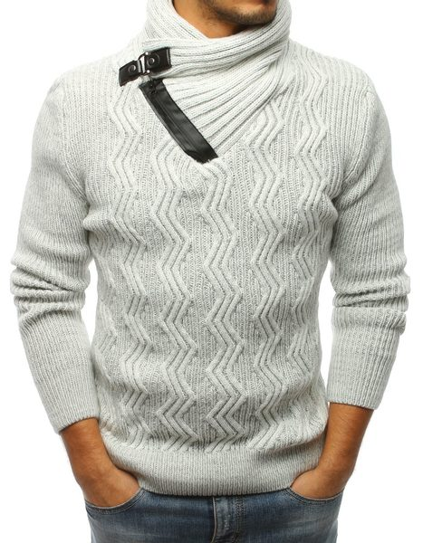 Atraktívny ecru pánsky sveter