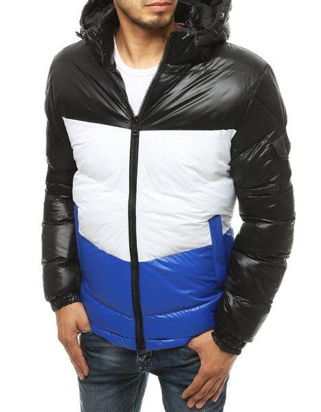 Moderná čierna zimná bunda