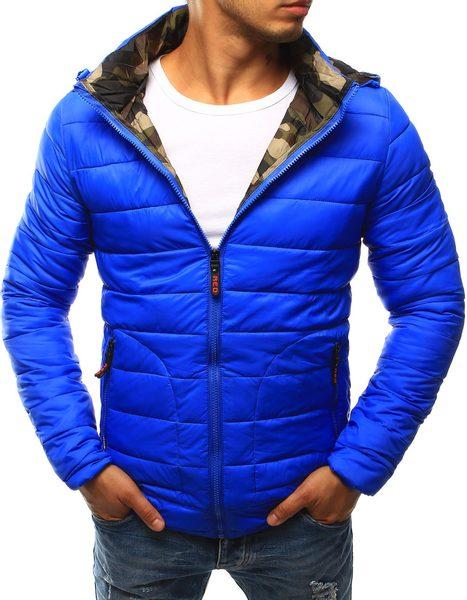 Nebesky modrá prechodná bunda