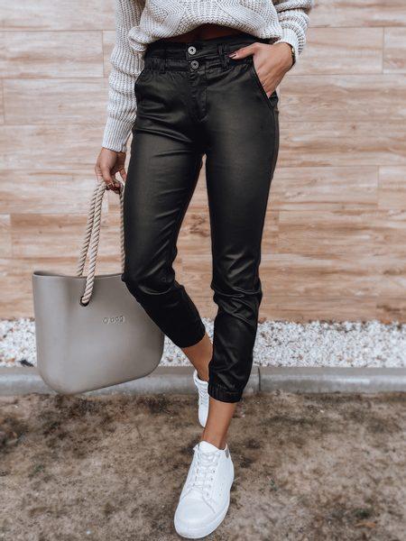 Dámske štýlové čierne nohavice Ansess