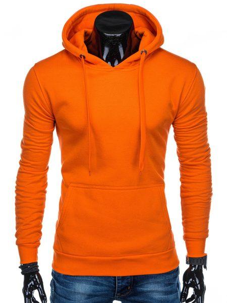 Oranžová mikina s kapucňou B873