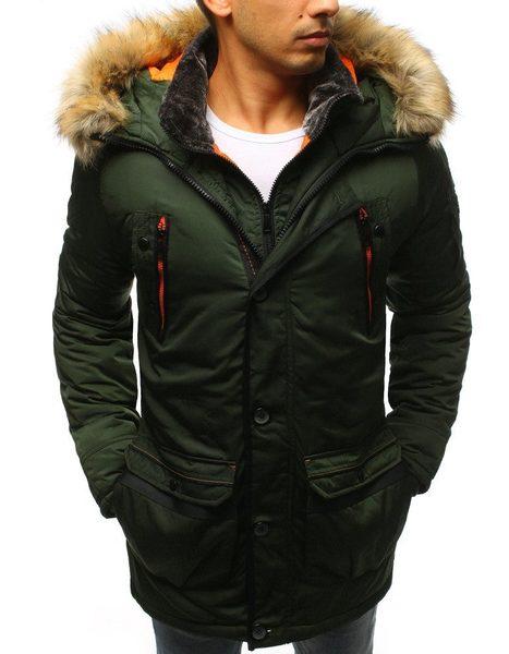 Zelená trendová zimná bunda