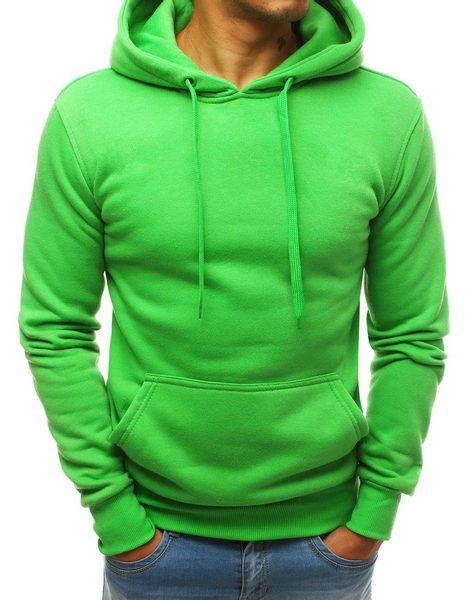 Trendy zelená mikina s kapucňou