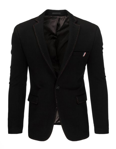 Čierne pánske sako slim fit strihu
