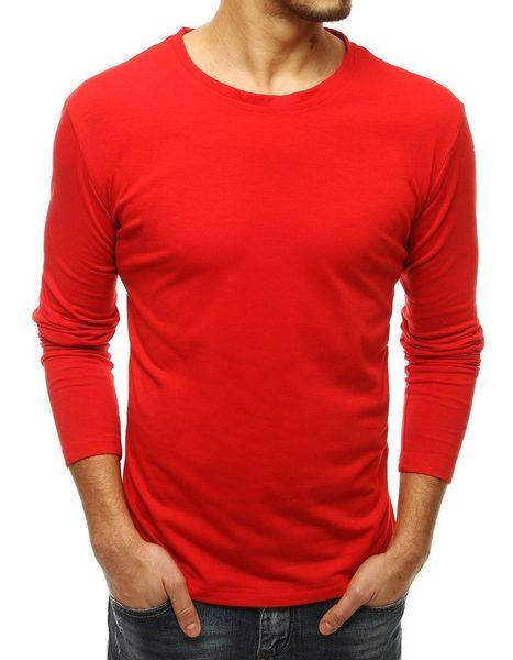 Pohodlné červené tričko s dlhým rukávom