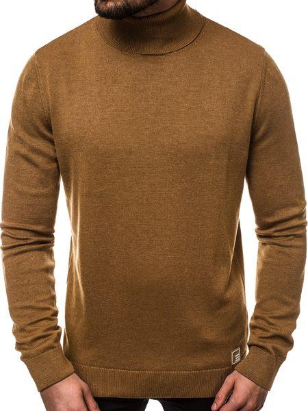 Hnedý pánsky sveter B/95008