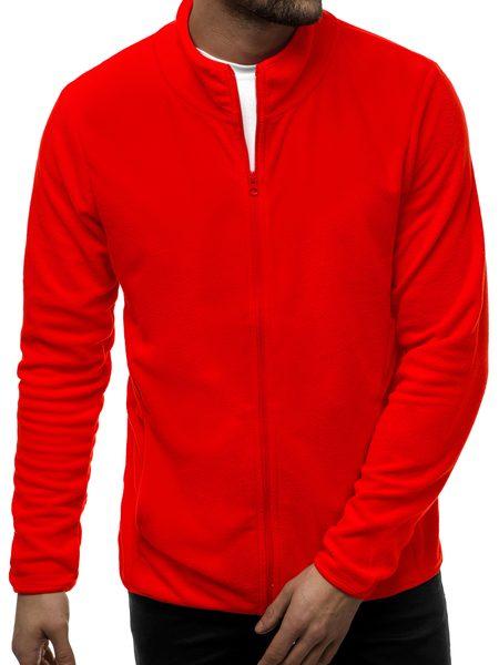 Pohodlná červená mikina na zips JS/HH016/5