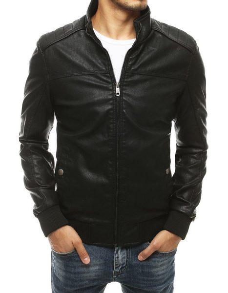 Čierna koženková bunda v modernom prevedení