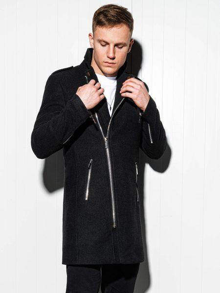 Pánsky čierny kabát c433