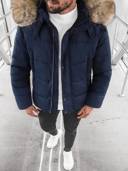 Moderná granátová zimná bunda JD/336Z