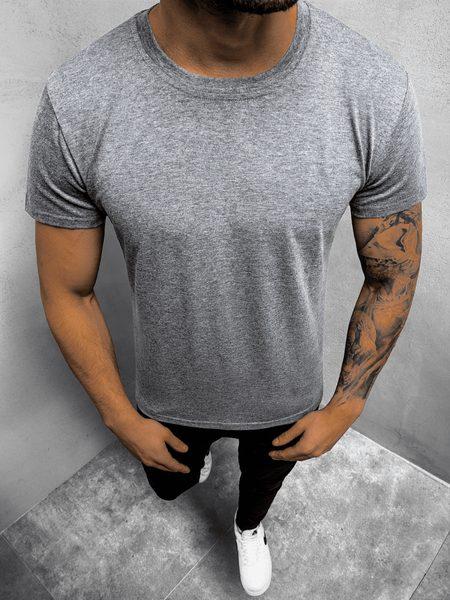 Jednoduché šedé pánske tričko JS/712005Z