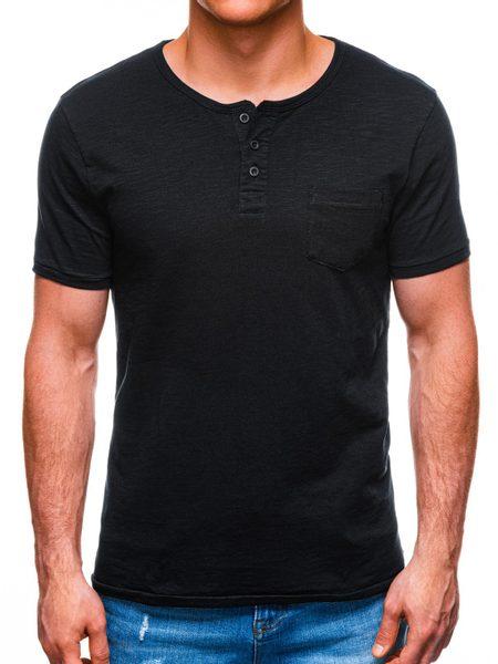 Čierne tričko s krátkym rukávom S1389