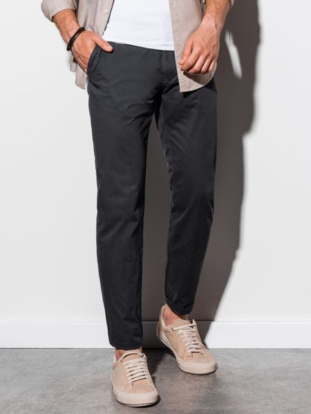 Pohodlné čierne chinos nohavice P894