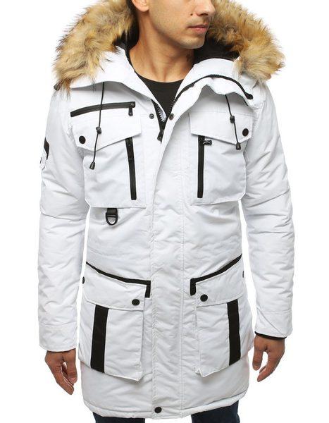 Biela štýlová zimná bunda