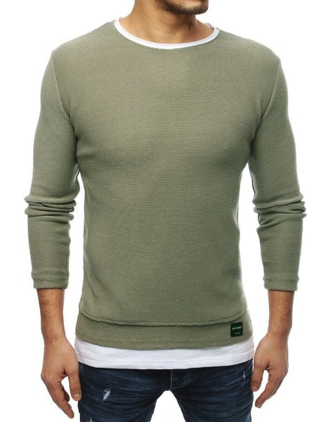 Khaki zaujímavý sveter
