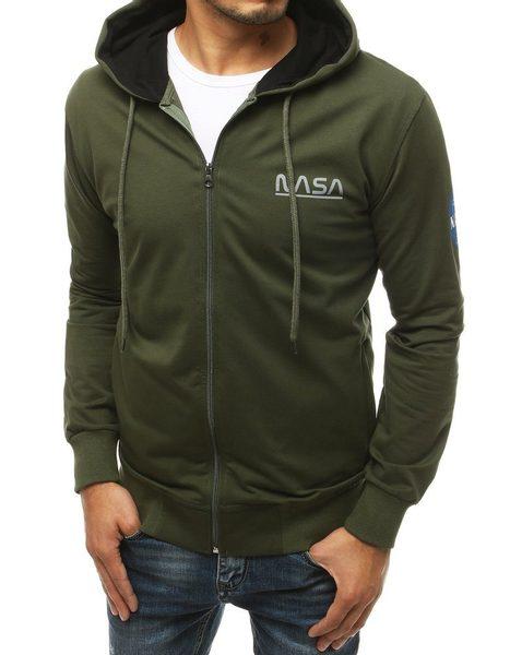 Štýlová mikina v khaki farbe NASA