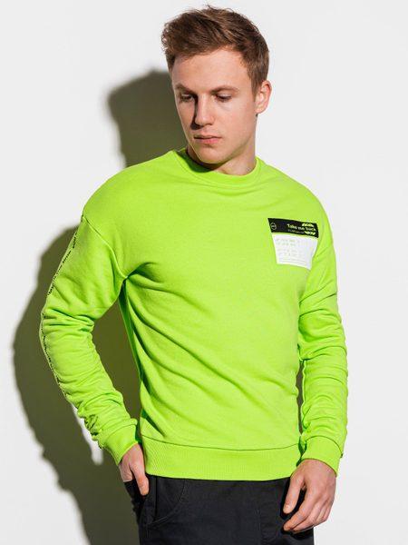 Pohodlná zelená mikina b1046