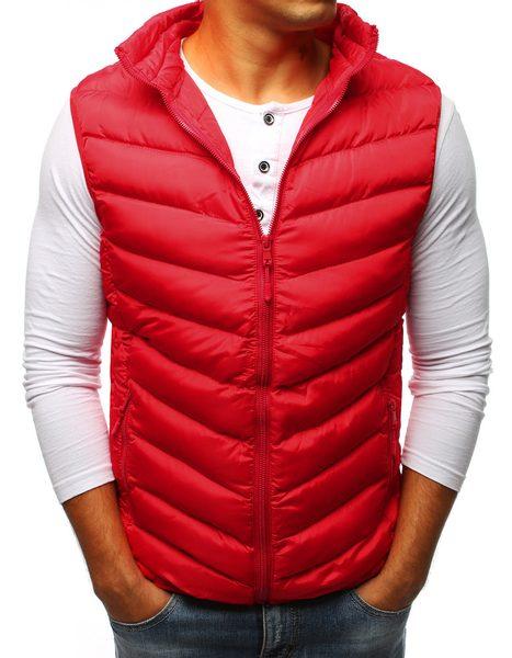 Fantastická červená prešívaná vesta