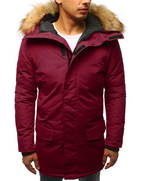 Bordová zimná bunda s praktickou kapucňou