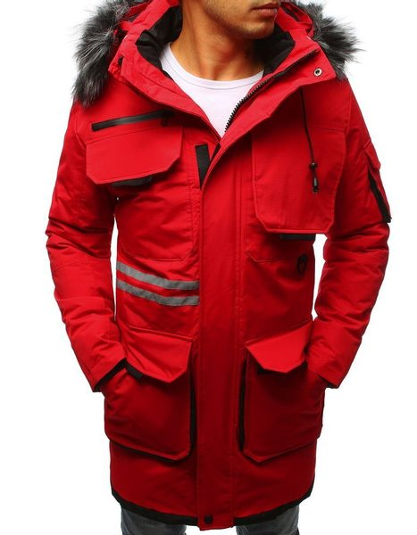 Originálna zimná červená bunda