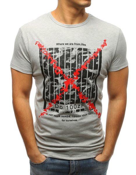 Štýlové pánske šedé tričko