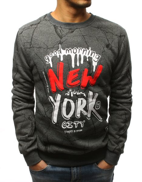 Pánska antracitová mikina NEW YORK