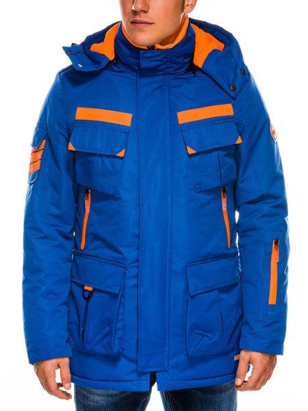 Modrá pánska zimná bunda c379