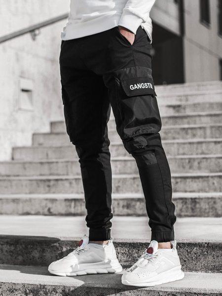 Štýlové čierne joggery G/11131