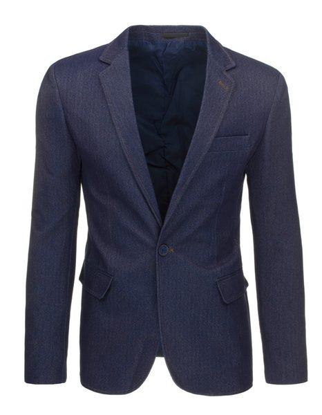 Moderné pánske sako v džínsovom prevedení