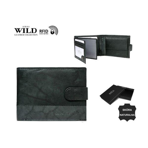 Štýlová čierna peňaženka s prackou