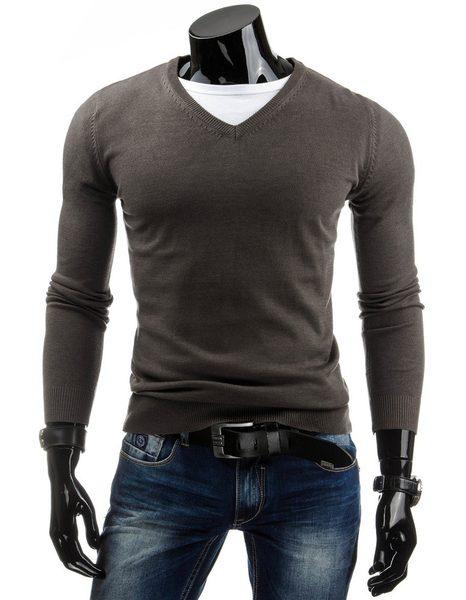 Pánsky štýlový sveter khaki