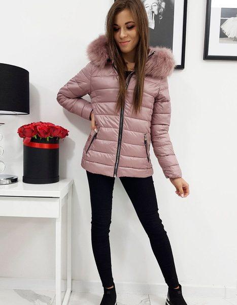 Ružová dámska zimná bunda SARA prešívaná