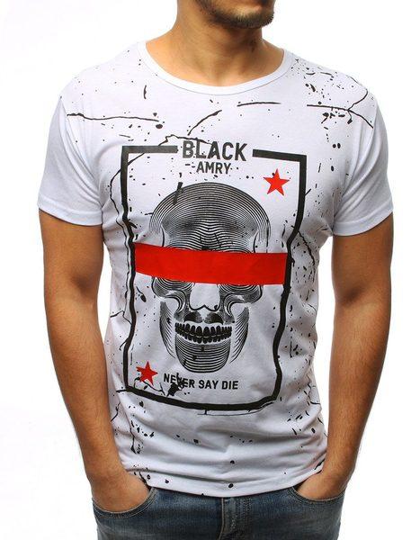 Perfektné biele tričko s lebkou