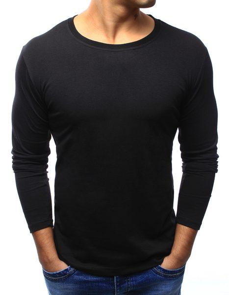 Pohodlné čierne tričko s dlhým rukávom