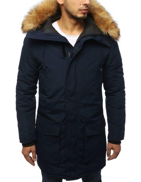 Granátová zimná bunda s kapucňou