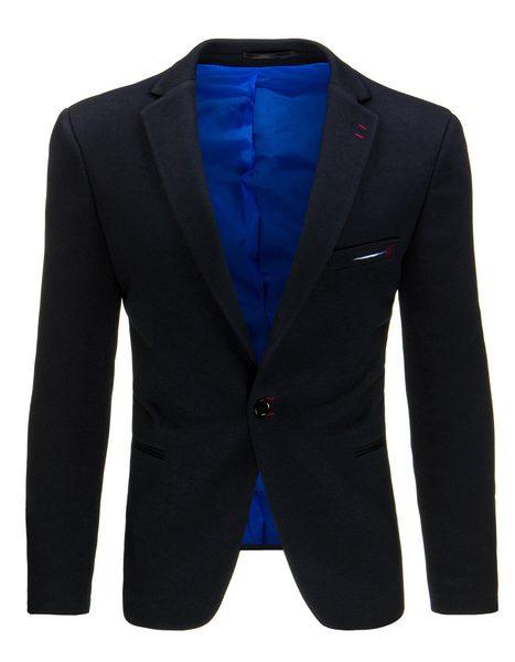 Tmavo-modré pánske sako