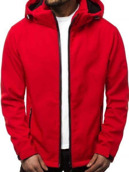 Softshell bunda červená JS/56008Z