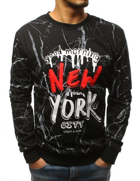 Pánska čierna mikina NEW YORK
