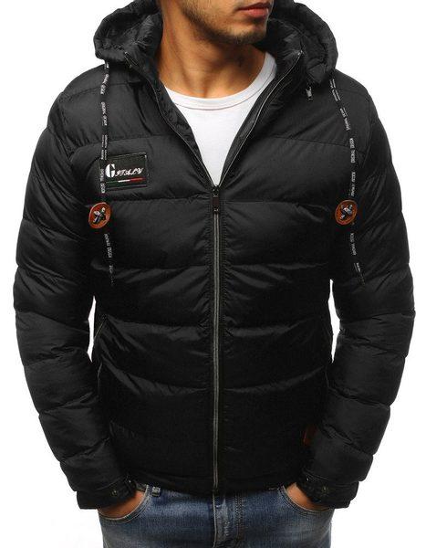 Prešívaná zimná čierna bunda