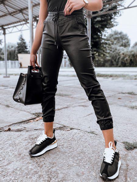 Dámske trendové čierne nohavice Ponna